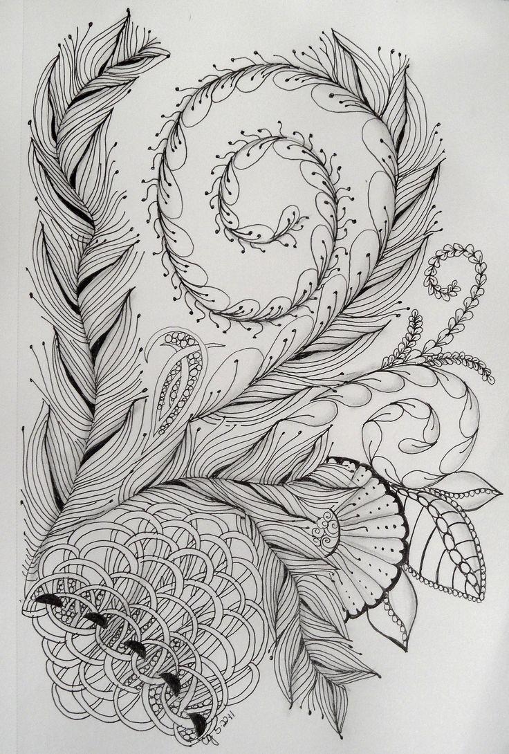 Zen doodle colour - Zentangles 096