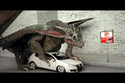 Dragon f*cking a car