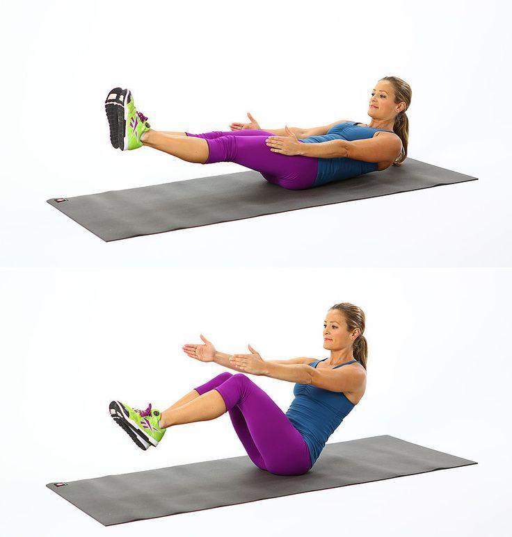 V Crunch 15 minutos diarios de cardio.  ¡Atrévete a transformar tu cuerpo!  1. Comienza haciendo 3 series de 10 repeticiones cada una de V Crunch los 3 primeros días.