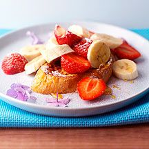 French Toast with Strawberries and Bananas and Honey Drizzle 4pp