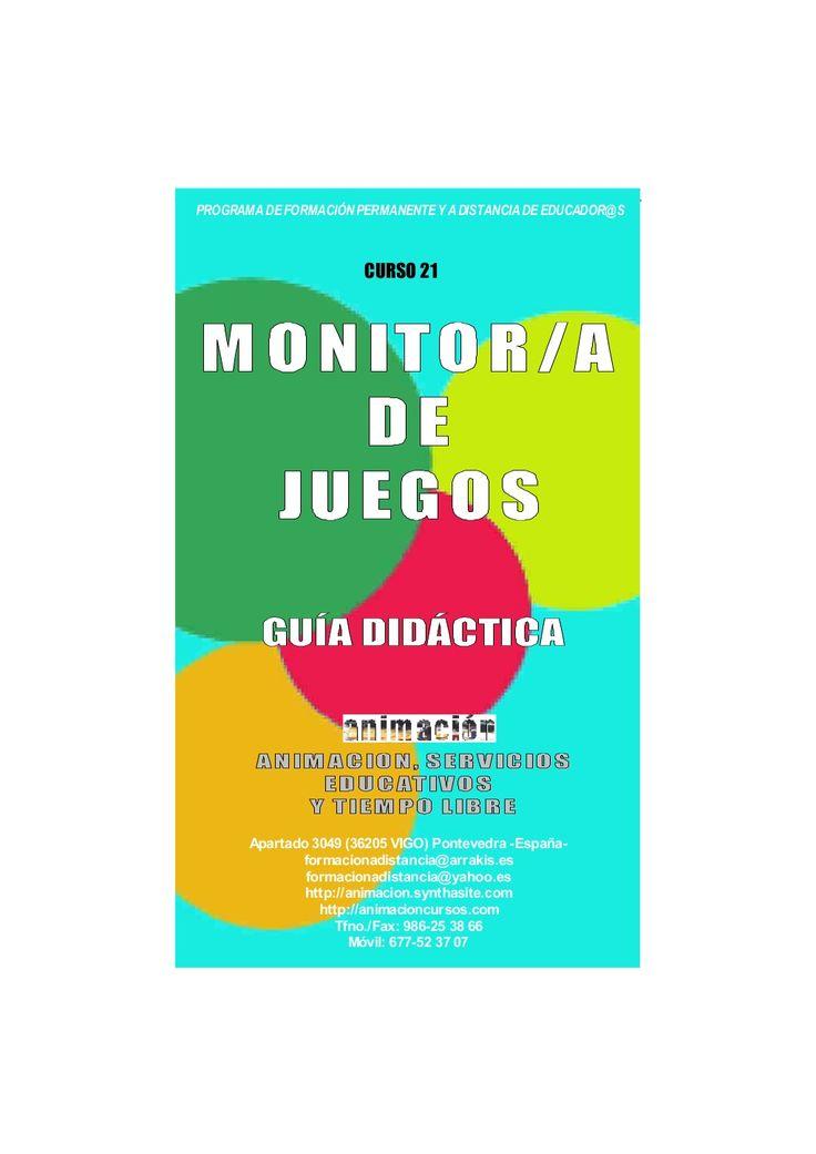 Curso Monitor de Juegos - Guia Didactica