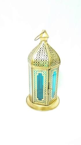 Antique-gold-and-blue-cut-worked-lantern