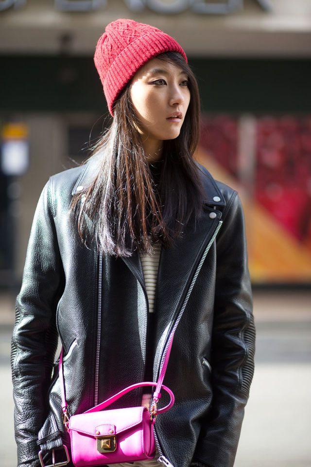 Streetstyle: Park Ji Hye at LFW Fall 2015