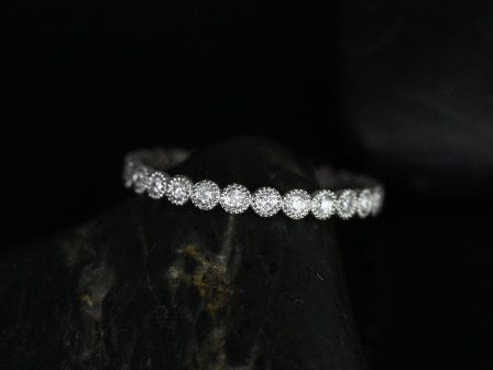 Petite Bubbles 14kt White Gold Diamond Eternity Band by RosadosBox, $650.00 similar to what i want my ring to be...