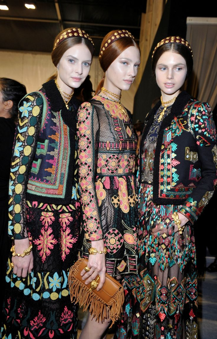 Valentino ss14 ' The colourful Aztec almost remind me of middle eastern praying mats I have at home * <3