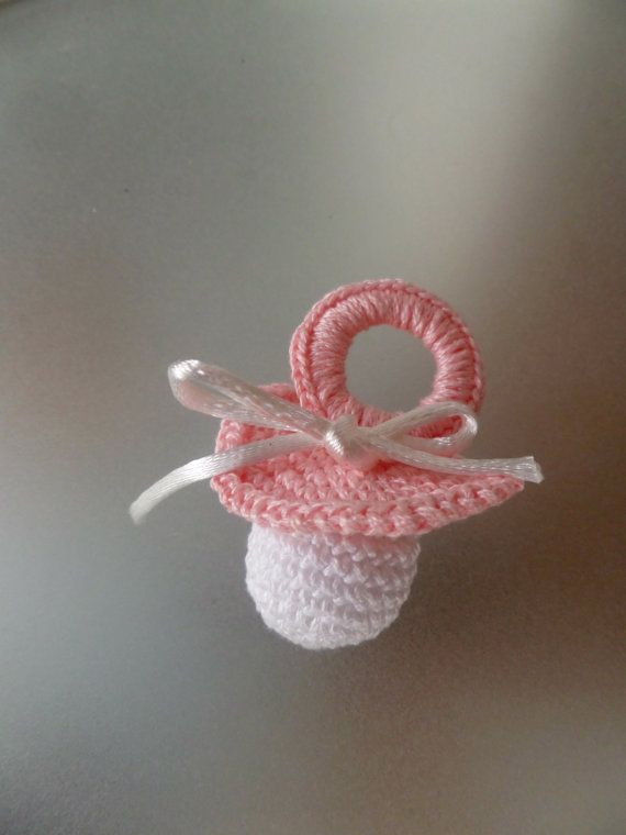 Miniature Crochet Handmade Baby Pacifier by Vintagespecialmoment