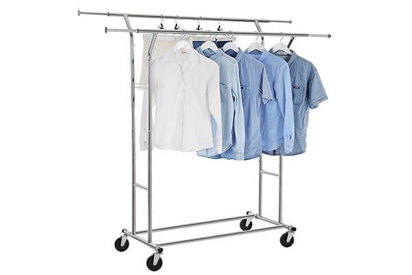 Elegant Portable Garment Rack with Cover