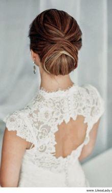 Elegant wedding up-do… I love it!