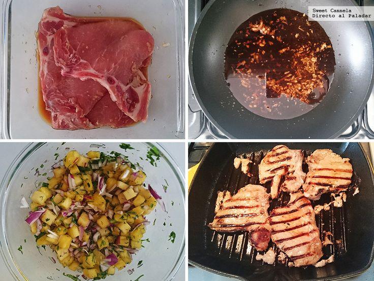 Preparacion Chuletas De Cerdo Teriyaki Pina