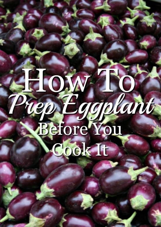 Prepping eggplant before you cook it will help get rid of any bitter taste. If you thought you didn't like eggplant, this might be the trick to change your mind!