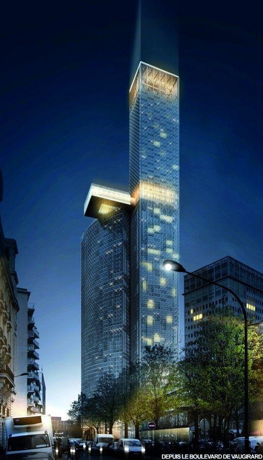 Runner-Up Proposals Revealed in Tour Montparnasse Competition,Proposal by Dominique Perrault Architecture. Image via le Pavillon de l'Arsenal