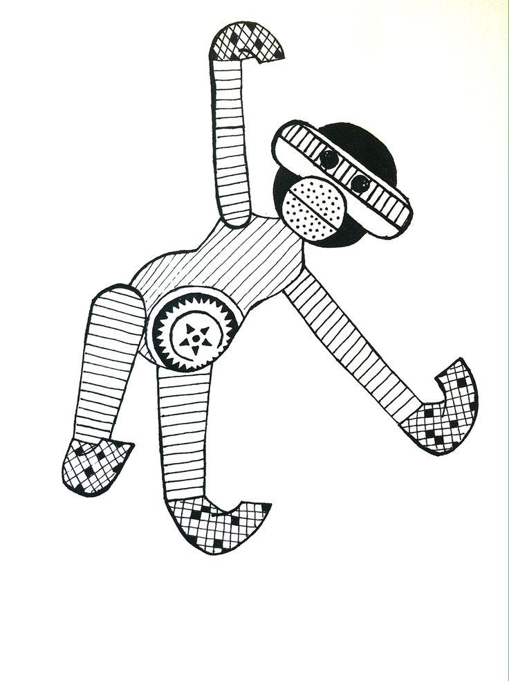 Monkey Inspired by Kaj Bojesen.
