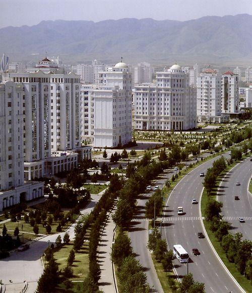 Ashgabat the capital of Turkmenistan All the building are white colour