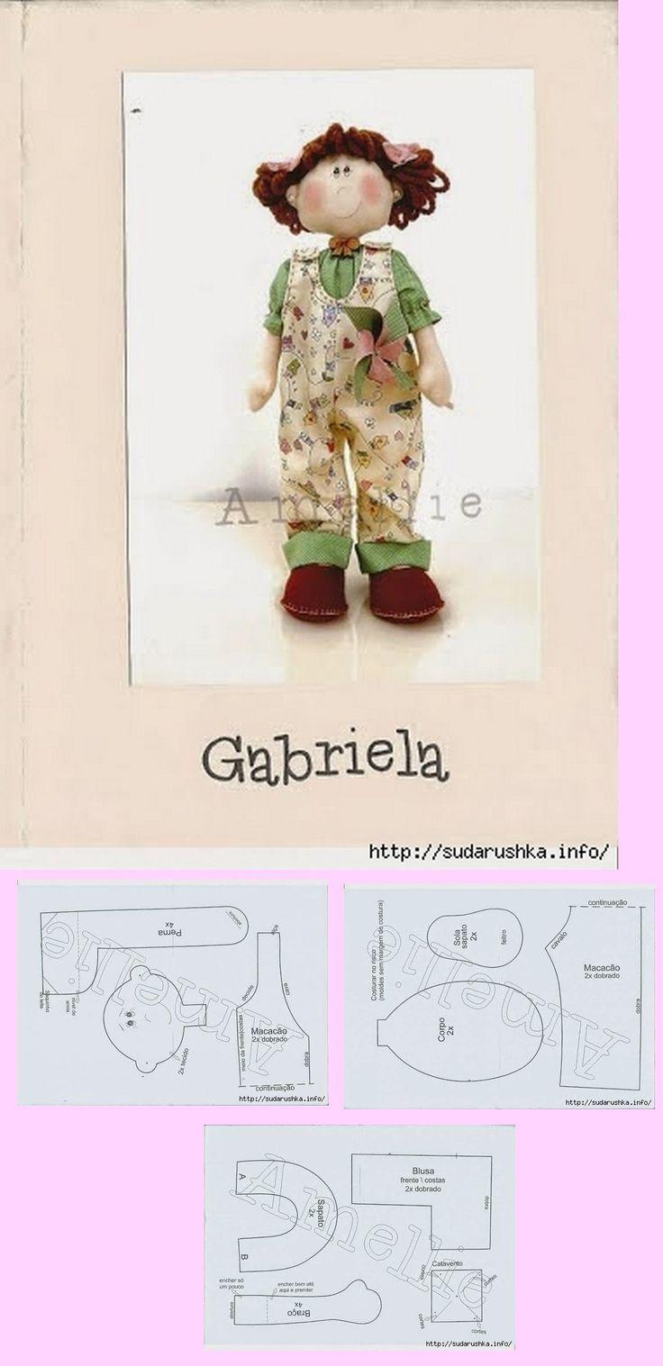 Gabriela; Free doll pattern