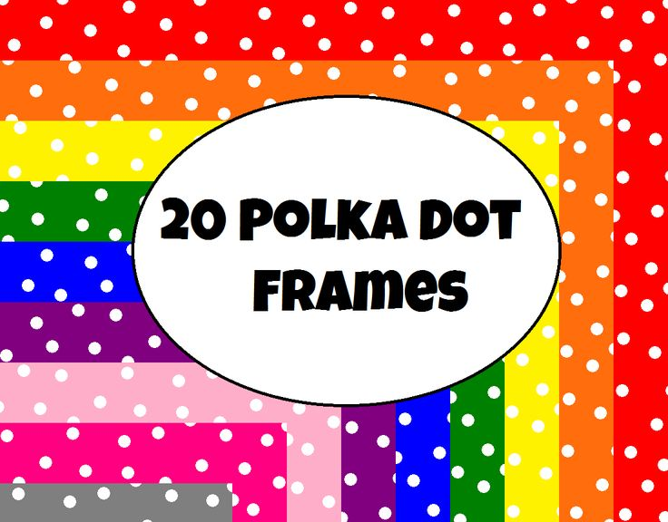 20 Polka Dot Frames For Commerical Personal Use