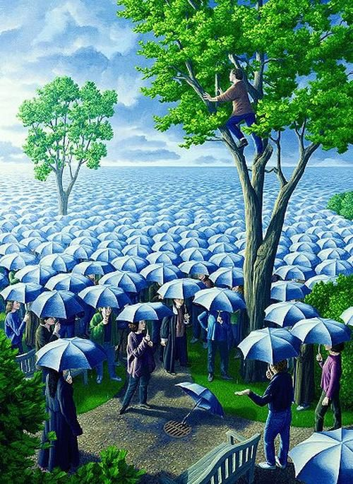 Deluged by Rob Gonsalves