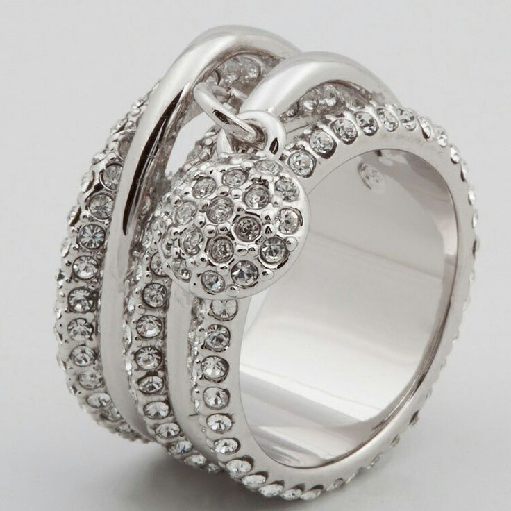 Silver Ring With Czechoslovakian Cristals