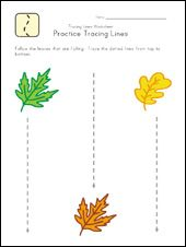 This webpage has LOTS of dotted lines - straight. curvy and wavy for kids to trace over.  This give children practice controlling their pencil/crayon.