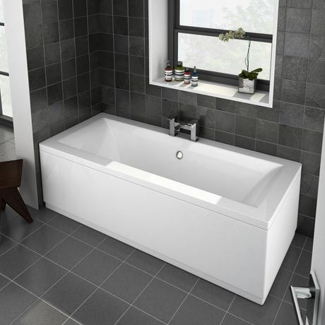 Buxton Double Ended Bath / waste & taps in the middle so both people are comfortable. Easy access if shower screen on left hand side.