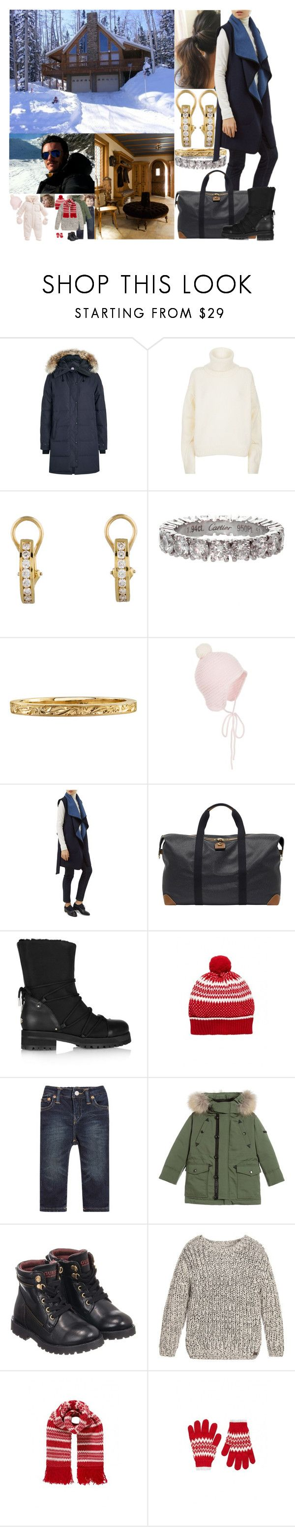 """""""Arriving at the cabin of Fred's family near Aviemore in the Cairngorms in the afternoon"""" by marywindsor ❤ liked on Polyvore featuring Canada Goose, Tory Burch, Tiffany & Co., Cartier, Hobbs, Mulberry, Jimmy Choo, Ralph Lauren, Burberry and GUESS"""