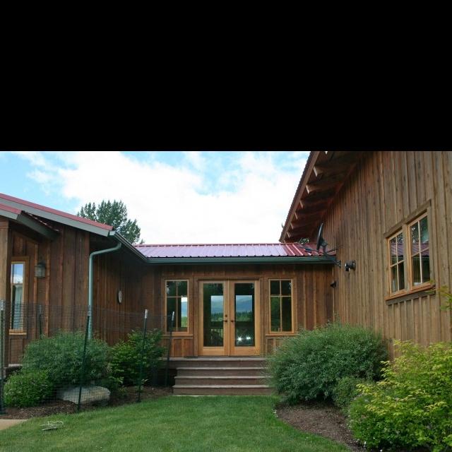 Rustic Exterior, Breezeway, Ranch