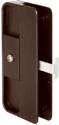 Prime Line Products 121803 Sliding Screen Door Latch/ Pull, Black - Quantity 6