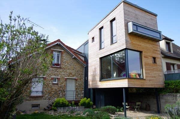 Die Auf Stelzen Montierte Gartenseitenerweiterung Stilhauser Des