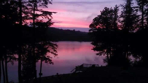 Pink sky at night, sailors, and Sunny Point guests, delight!