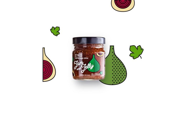 Jam and Jelly marmalades by @cursordesign  - The Greek Foundation #graphic #design #illustrations #colors #patterns #gastronomy