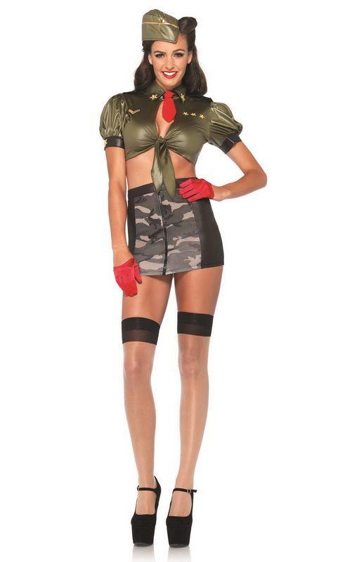 Retro Women's Costumes, Sexy Military Costumes, Sexy Army Costumes, Pin Up Military Costumes