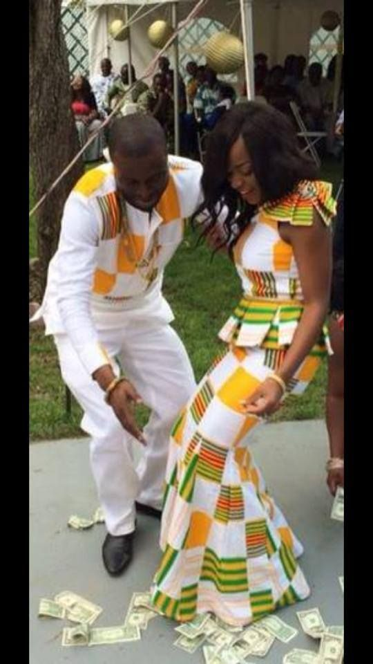 kente wedding clothes ~African fashion, Ankara, kitenge, African women dresses, African prints, African men's fashion, Nigerian style, Ghanaian fashion ~DKK
