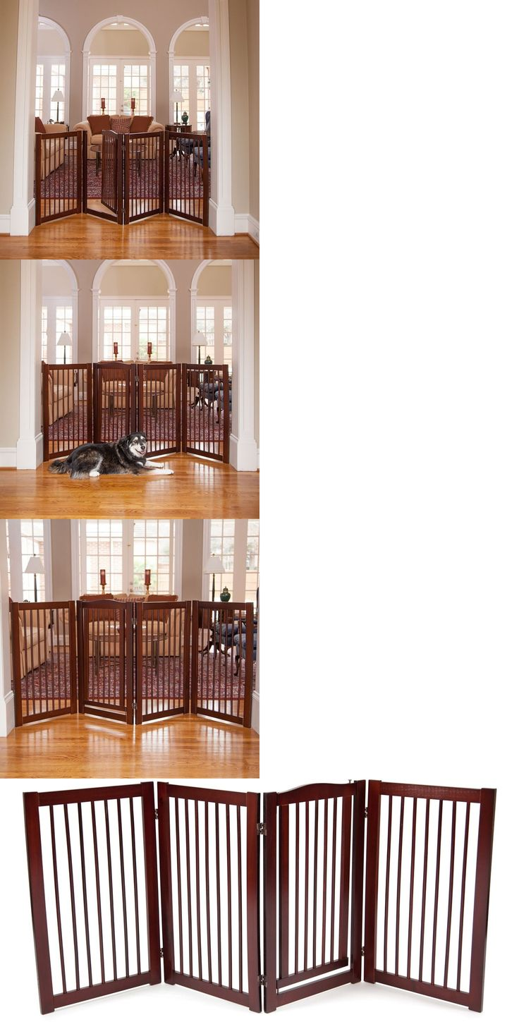 Fences and Exercise Pens 20748: Extra Wide Pet Gate Dog Walk Thru Freestanding Fence Playpen Indoor Wood Safety -> BUY IT NOW ONLY: $124.95 on eBay!