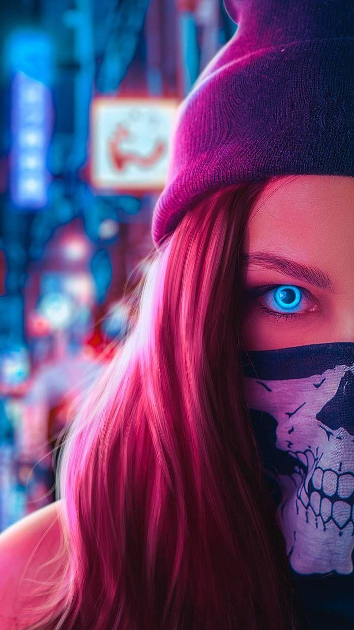 Ghost Mask Girl Eyes Wallpaper Girl Iphone Wallpaper Hipster Wallpaper