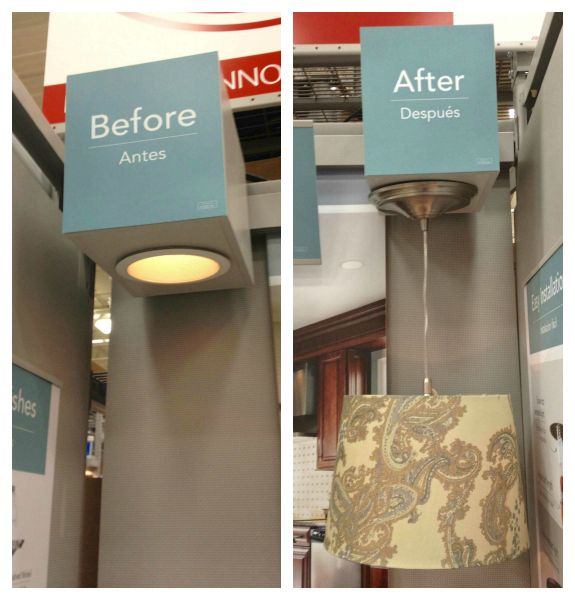 Simple way to convert a recessed can light into a hanging shade pendant!