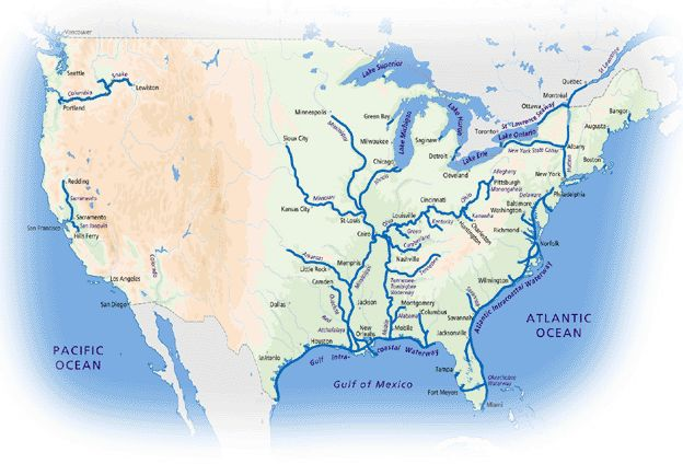 North America Inland Waterways Sea Life Great Loop Project And - Us inland waterways map