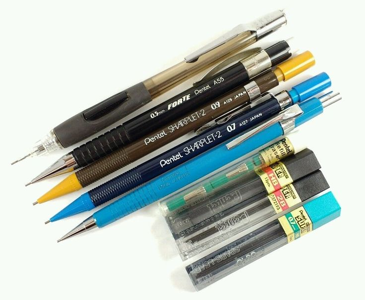 Pentel Mechanical Pencil Lot PD345 P205 A55 Forte Sharplet-2 0.9 0.7 0.5 w/ Lead