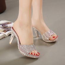 Hot Sales 2 colors SIZE 35-39 New sexy Women Sandals Rhinestone bow Decorated Ladies Sandal Women slippers Fashion Shoes(China (Mainland))