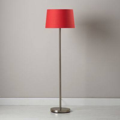 Light Years Red Floor Shade and Nickel Base  | The Land of Nod
