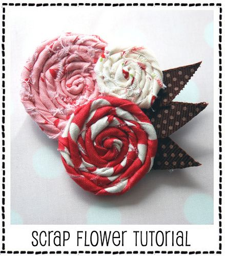 scrap flowers