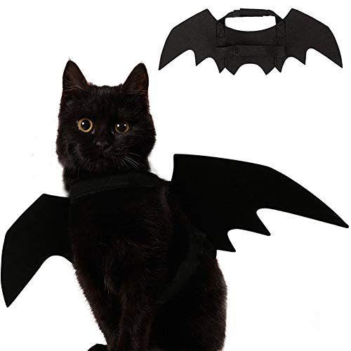 Ehdching Cat Costume Halloween Pet Bat Wings Cat Dog Costume Cat
