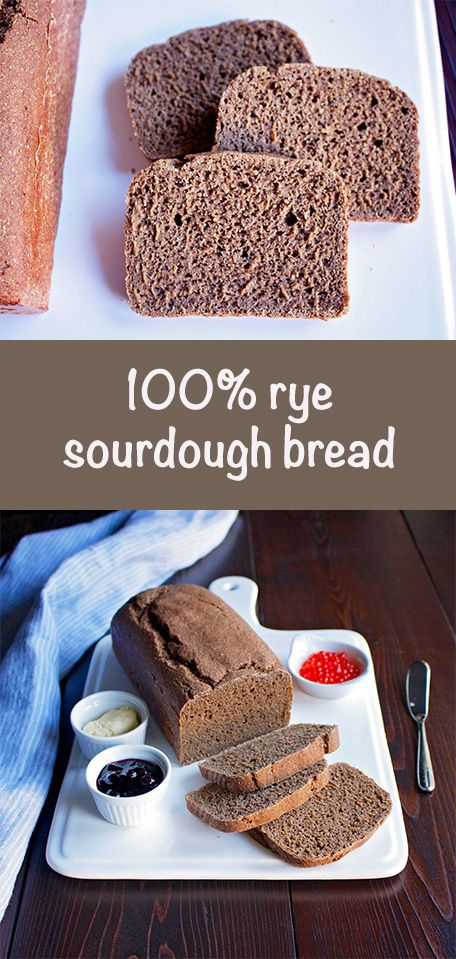 100% rye sourdough bread without using wheat