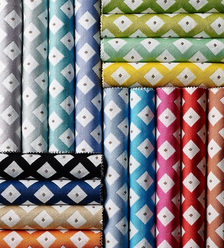 Contemporary Geometrics | Loana Fabric by Lorca | Jane Clayton