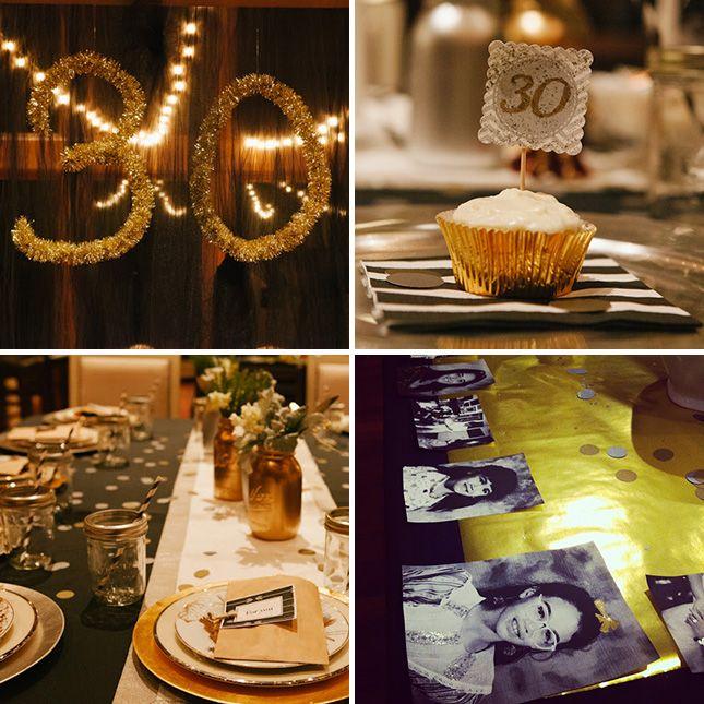 Glitter Photos 30th Birthday Idea