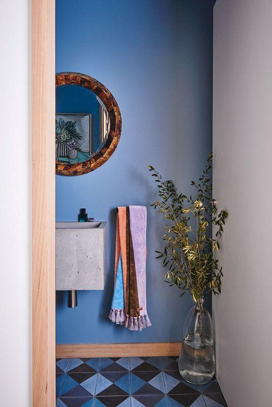 blue walls + pastel touches