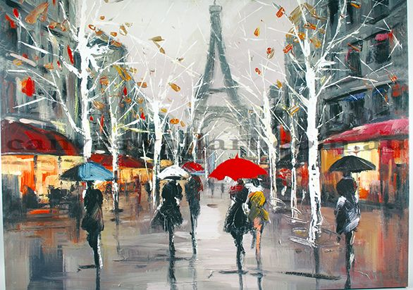 Oil Painting A Day In Paris: Ready To Hang  In Depth 100% handmade Oil Painting Wall Decor on canvas. Model Number: JEN - 7996 Type: handmade Style: Abstract Subjects: landscape Medium: Oil Support Base: Canvas Size: 120 x 90cm Weight: 2.5 kg Delivery Date: In stock: within 14 working days; out of stock: 21 - 30 working days
