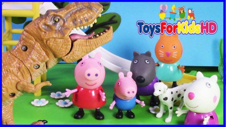 El Dinosaurio de Peppa Pig y George - Juguetes de peppa pig - Videos de ...