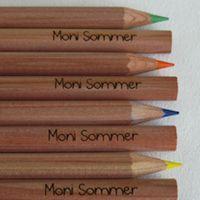 Geschenkidee zur Einschulung: Buntstifte mit Namen