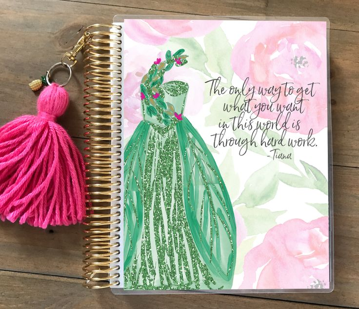 New Disney Princess Planner Covers launching 2/4/17 in Etsy by Stylish Planner! Here is a sneak peek at Princess Tiana!