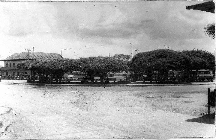 Foto vieja del parque central de Cereté