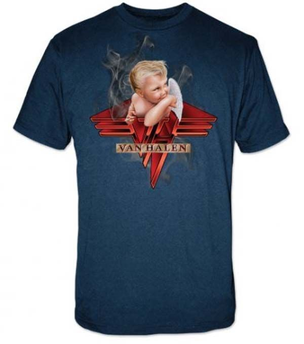 Blue Van Halen Smoking Baby Concert Tour Band Shirt Small-XL Men's Women's #SP #Concert